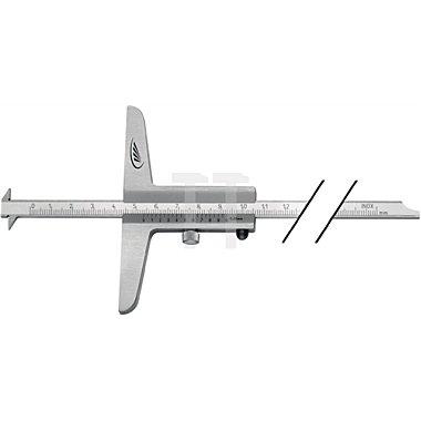 Tiefenmessschieber 300mm abgesetzte Messschiene Brücken-L.100mm