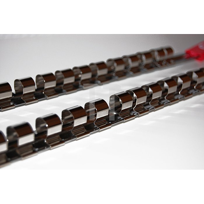 """1/2"""" Nuss-Steckleisten 560mm mit 15 Clips 2tlg."""