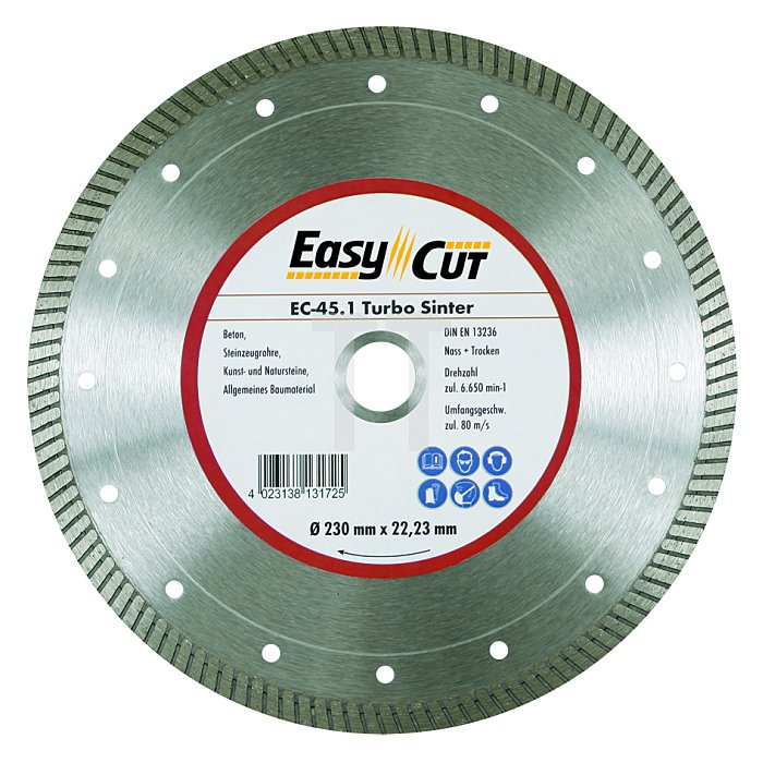 200mm EC-45.1 25,4, 22,23mm 1,8 x 10mm Ring