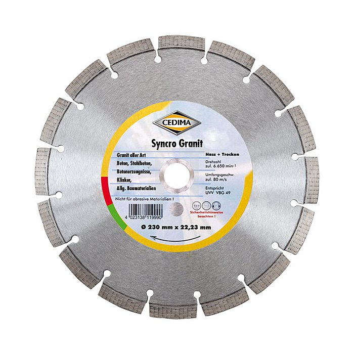 230mm Syncro Granit G 22,23mm 2,2 x 10 x 32mm