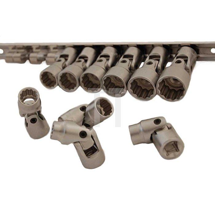 """3/8"""" Gelenknüsse auf Steckleiste 10 - 19mm 10tlg."""