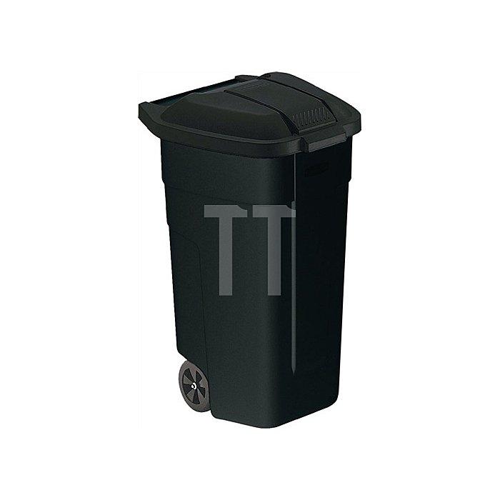 Abfall-/Wertstoffsammler schwarz 100l Deckel schwarz B520xT560xH860mm m.2 Rädern