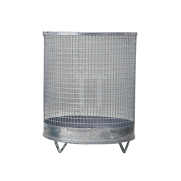 Abfallbehälter 118l H.600xD.500mm verz. Drahtgitter m. 4 Füßen