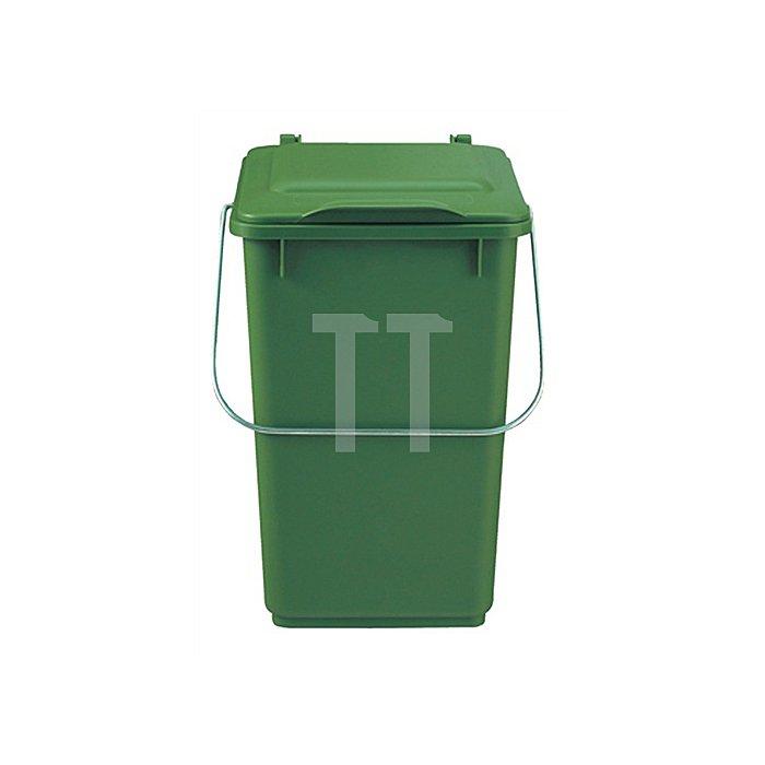 Abfallsammler 10l Ku. braun m.Klappdeckel für Bioabfall