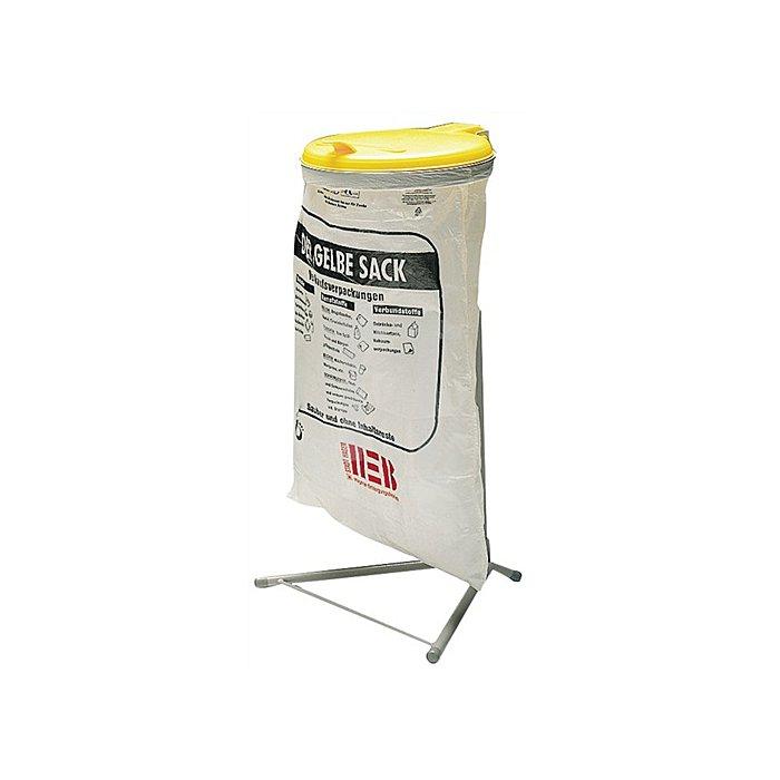 Abfallsammler f.120l 920x500x530mm Ku.-Deckel gelb Einwurf-D.350mm