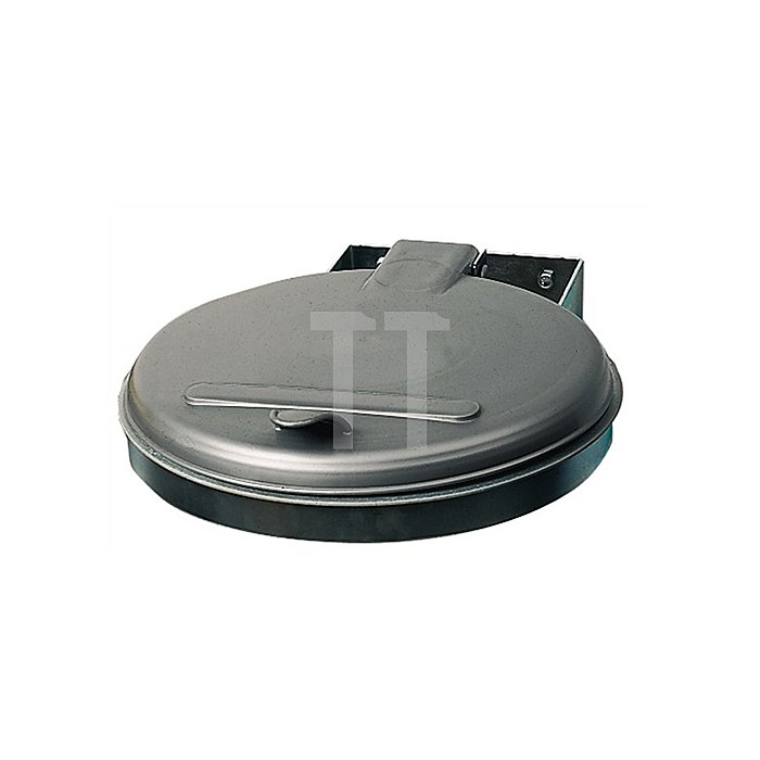 Abfallsammler f.120l verz. 400x510mm Ku.-Deckel silber Einwurf-D.350mm