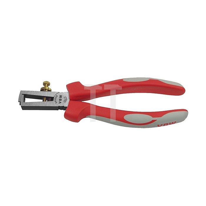 Abisolierzange poliert Mehrkomponenten-Griffe 160mm