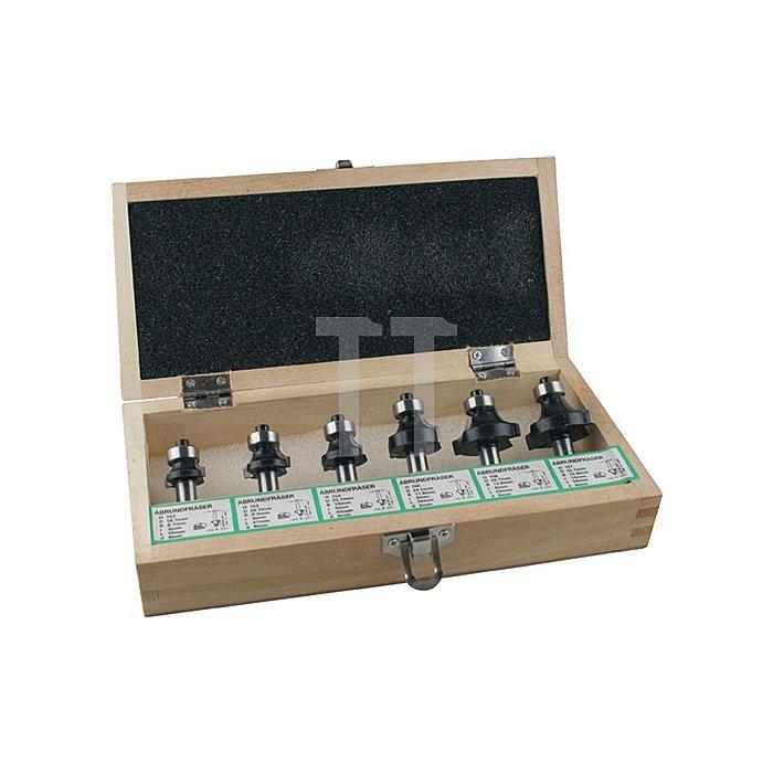 Abrundfräsersatz HM 6tlg. Schaft-D.8mm EDESSÖ 2Schneiden