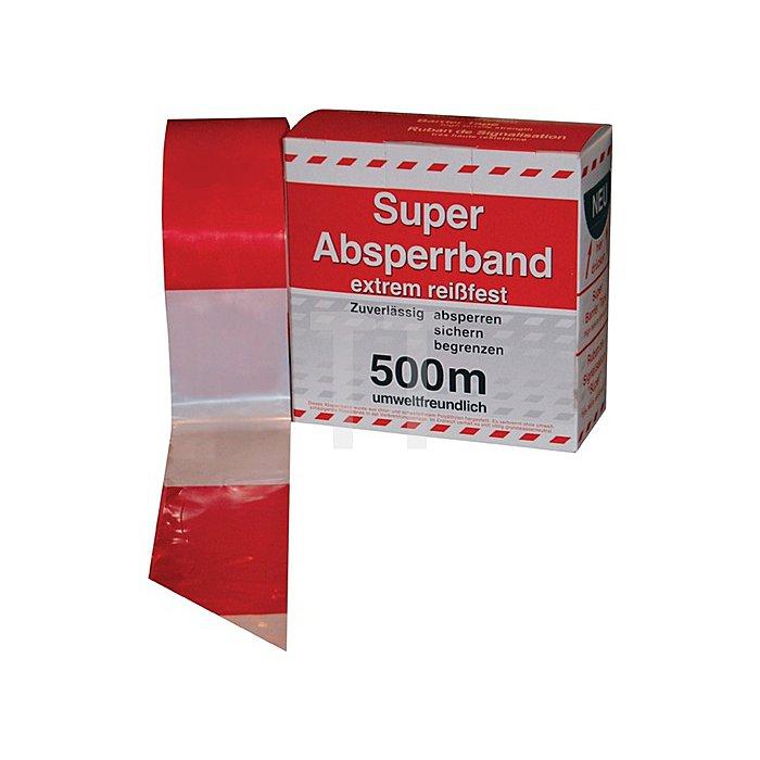 Absperrband im Spenderkarton rot/weiss 500 m