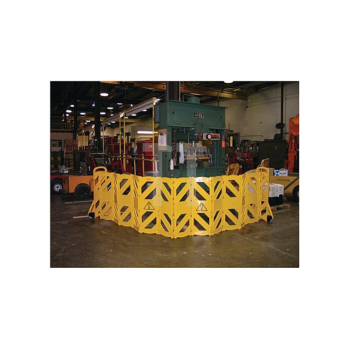Absperrung 16 Elemente H1000xB600xT350mm gelb Polyethylen Gesamtlänge 4 m