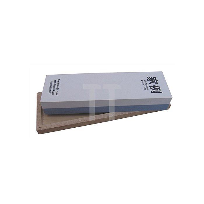 Abziehstein K.1000/3000 200x60x30mm f.gr.Werkzeuge MUELLER i.Holzkasten