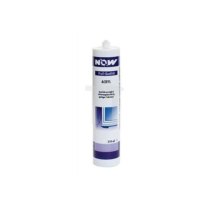 Acryl Dichtstoff grau Kartusche 310ml geruchslos NOW plastoelastisch