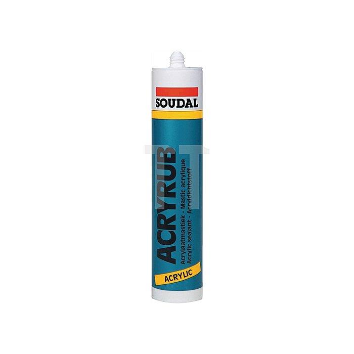 Acryl weiss 310ml Plasto-elastischer Acryldichtstoff