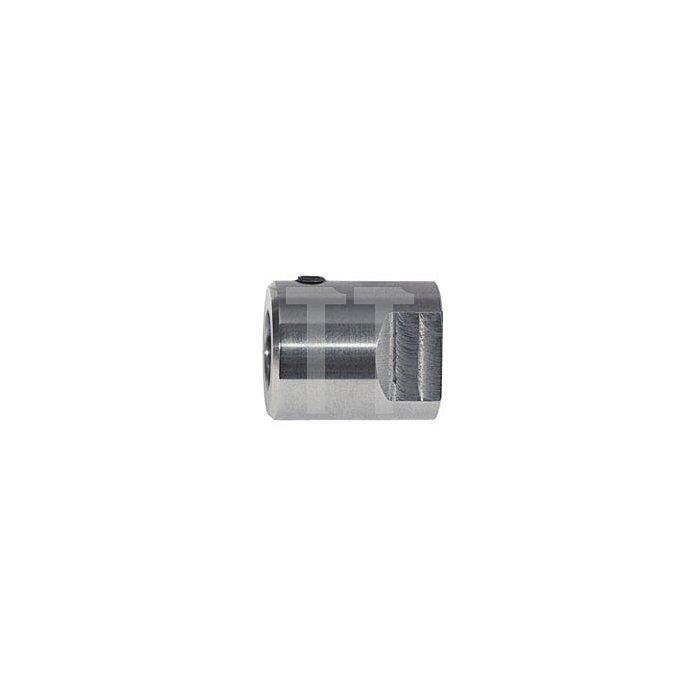 Adapter mit Gewindeaufnahme M18 x 6 P1,5