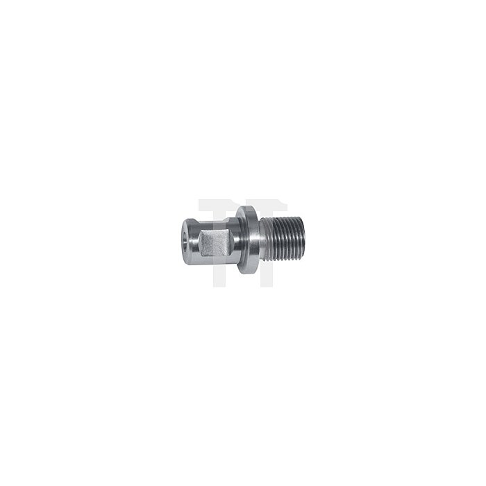 """Adapter mit Weldonschaft 3/4"""" für Kernbohrer mit Gewindeaufnahme M18 x 6 P1,5"""