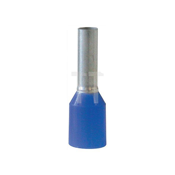 Aderendhülse blau Q.2,5mm2 AWG14 14/8mm WEIDMÜLLER m.Ku.-Kragen