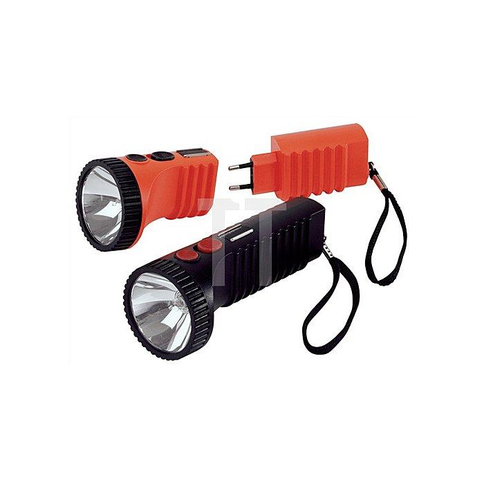 Akkuleuchte Power Lux 175x70x70mm Halogen ACCULUX leuchtorange