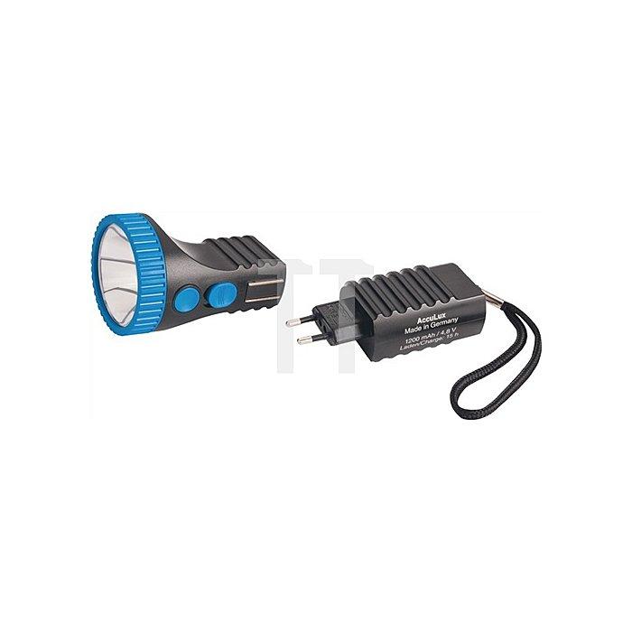 Akkuleuchte Power Lux LED blau/schwarz ACCULUX Leucht-W.1000m