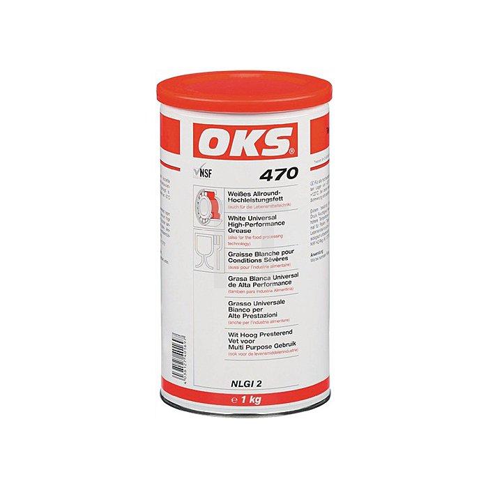 Allround-Hochleistungsfett OKS 470 1kg Kartusche -30 bis +120 Grad