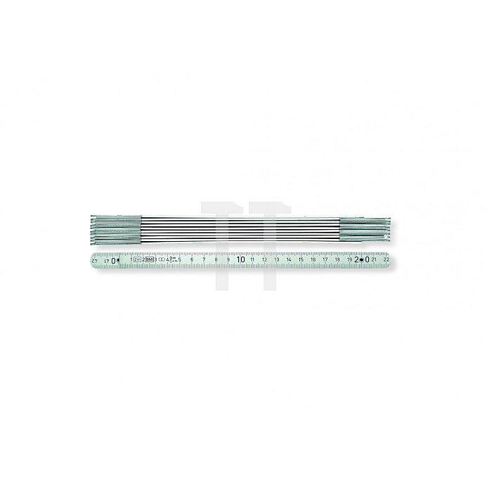 BMI Alu-Gliedermaßstab, 2 m, mm-Teilung 961200094W
