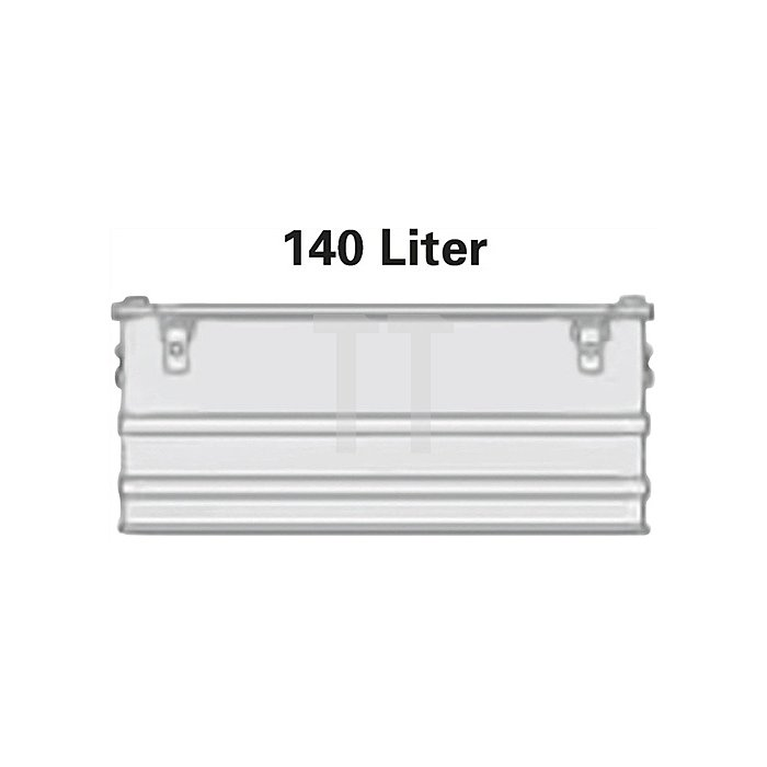 Aluminiumbox 140l 902x495x379mm m.Gummidichtung 8,0kg m.Stapelecken