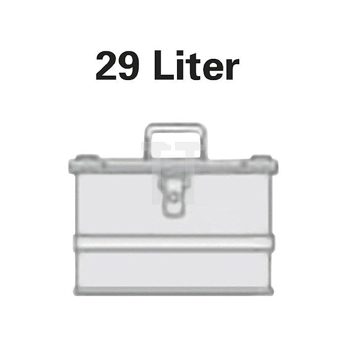 Aluminiumbox 29l 432x335x277mm m.Gummidichtung 3,25kg m.Stapelecken