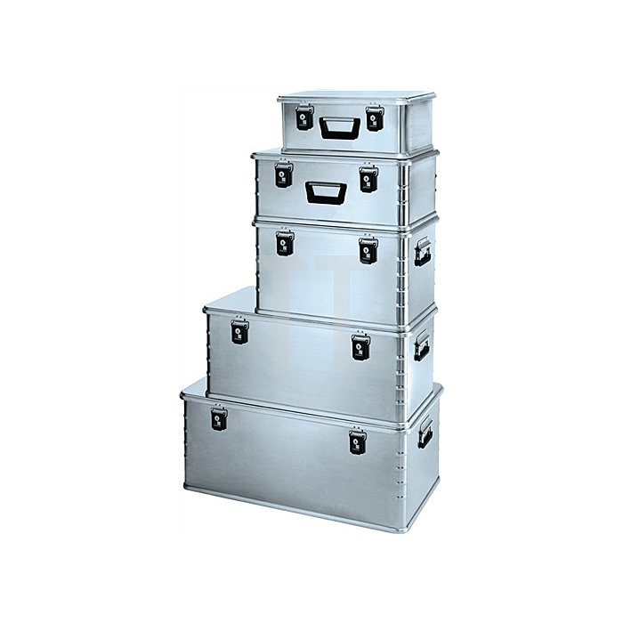 Aluminiumbox Mini 42l 600x400x240mm m.Dichtung Federfallgriff