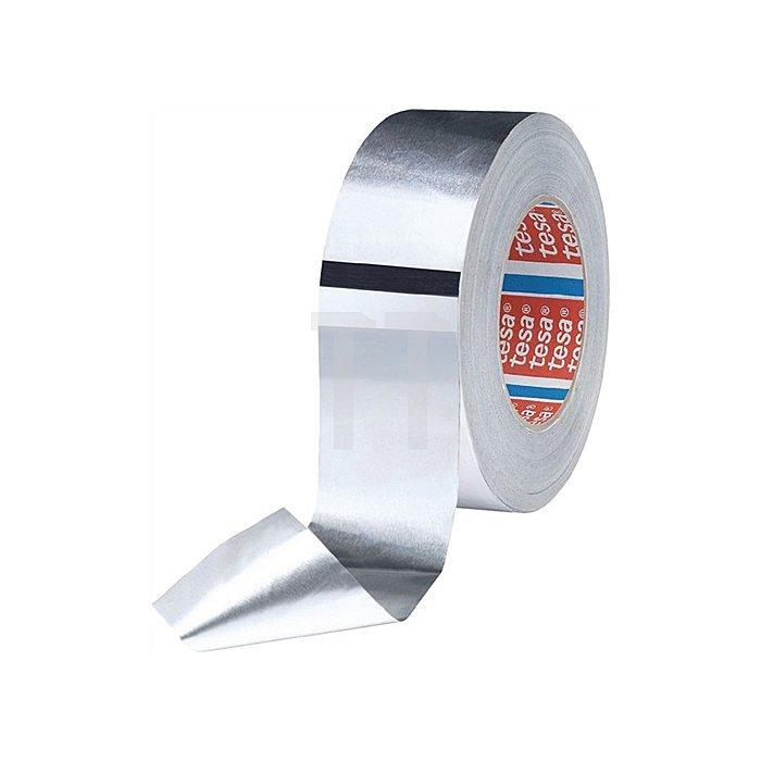 Aluminiumklebeband 50565 tesaband L.25m B.50mm farblos Alufolie 50 µm m.Liner
