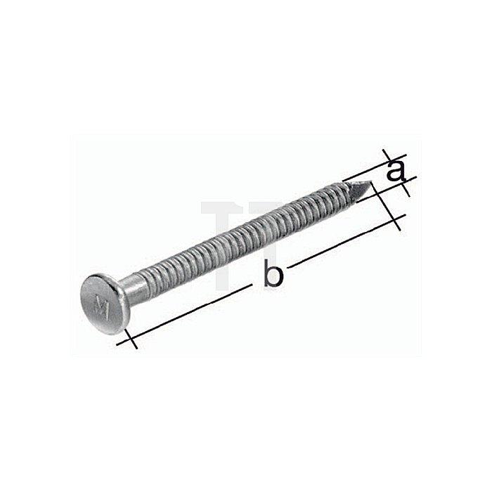 Ankernagel bauaufsichtlich zugelassen Ø4,0x50mm Stahl roh verz.
