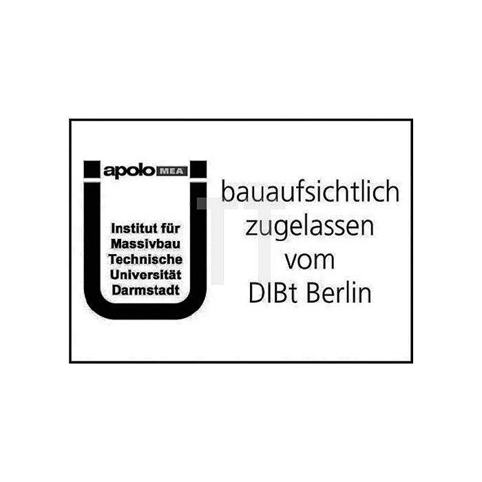 Ankerstange AST M 10-200 V A4 Edelst.A4 m.Mutter u. U-Scheibe m.Zul. f.Vinylharz