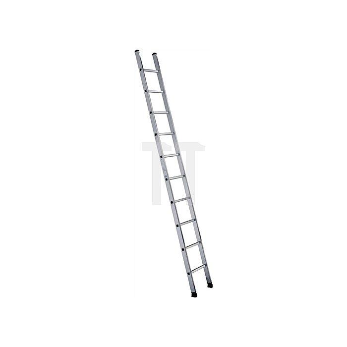 Anlegeleiter Alu.10 Sprossen Leiterlänge 3050mm Arbeits-H.bis ca.4100mm