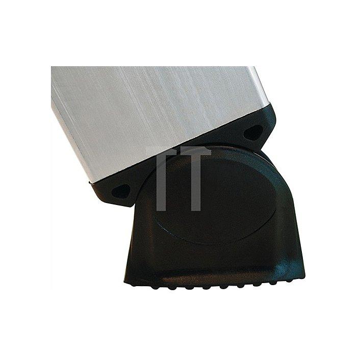 Anlegeleiter Alu.12 Sprossen Leiterlänge 3600mm Arbeits-H.bis ca.4700mm
