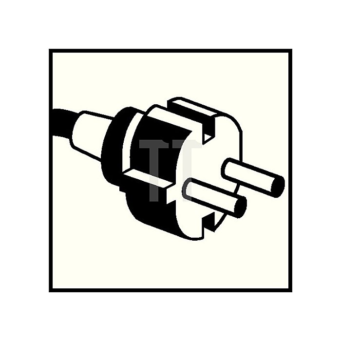 Anschlussleitung H05RR-F 2x1mm2 L.5m m.Konturenstecker schwarz