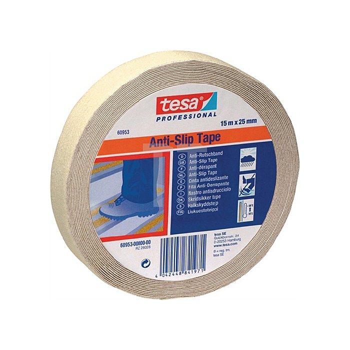 Anti-Rutsch Klebeband transp.15m x25mm DIN 51130/DIN67510 fluoreszierend