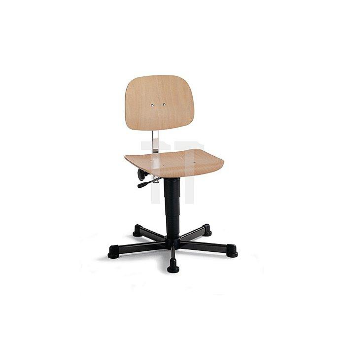 Arbeitsdrehstuhl Fit m.Gleitern Buche Sitz-H.430-600mm BIMOS