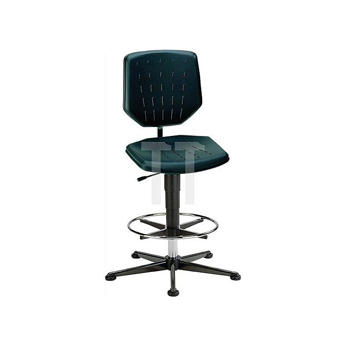 Arbeitsdrehstuhl Fit m.Gleitern,Fußring Integralschaum Sitz-H.590-910mm BIMOS
