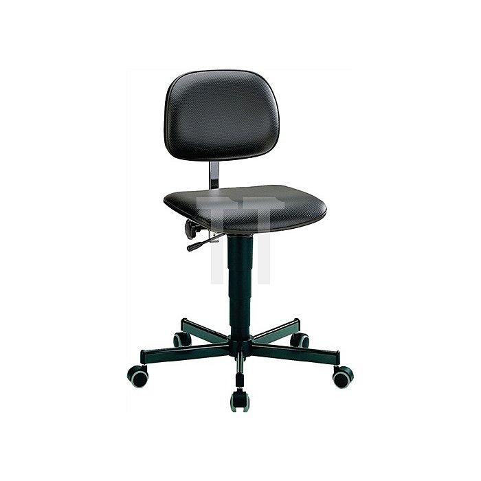 Arbeitsdrehstuhl Fit m.Rollen Kunstleder Sitz-H.430-600mm BIMOS