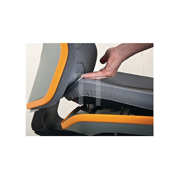 Arbeitsdrehstuhl Neon m.Rollen grau Sitz-H450-620mm Permanentkontakt