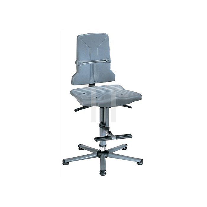Arbeitsdrehstuhl Sintec A m.Gleitern u.Aufstiegshilfe PP Sitz-H. 580-850mm BIMOS