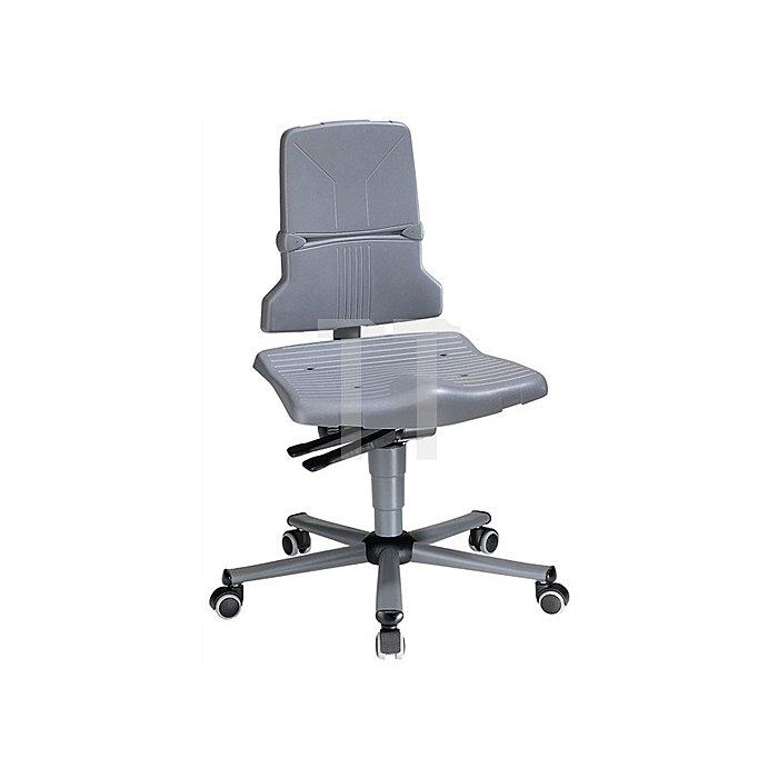 Arbeitsdrehstuhl Sintec C m.Rollen u.Synchronautom. Sitz-H.430-580mm BIMOS