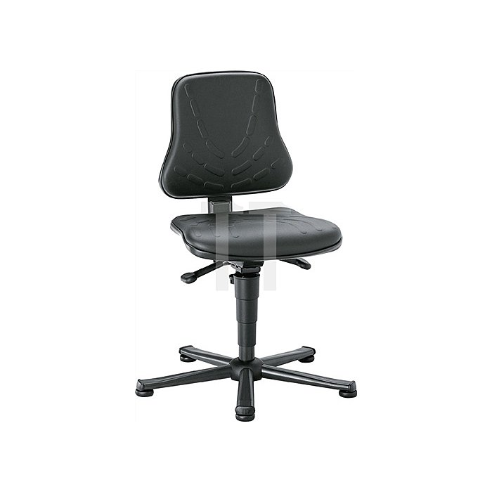 Arbeitsdrehstuhl Solitec m.Gleitern Kunstleder Sitz-H.440-590mm BIMOS