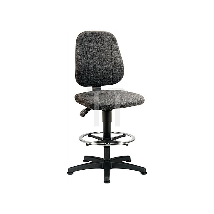 Arbeitsdrehstuhl Unitec m.Gleiter u. Fußring Stoffpolster Sitz-H.580-850mm