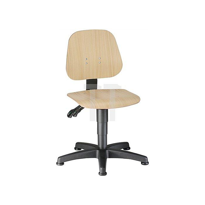 Arbeitsdrehstuhl Unitec m.Gleitern Buche Sitz-H.440-620mm BIMOS