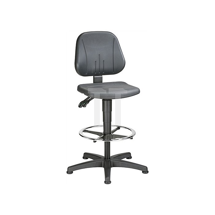 Arbeitsdrehstuhl Unitec m.Gleitern u.Fußring Integralschaum Sitz-H.550-850mm