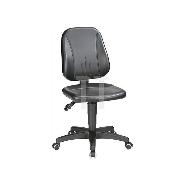 Arbeitsdrehstuhl Unitec mit Rollen Kunstleder Sitz-H.440-620mm BIMOS