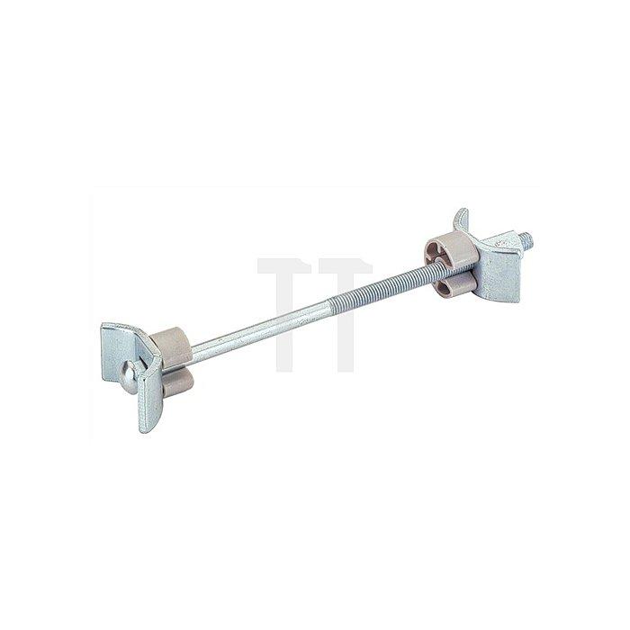 Arbeitsplattenverbinder 25084 L. 65mm Stahl chromatiert m. gebogener Klemmplatte