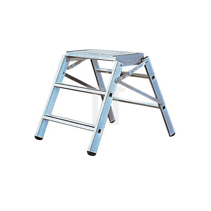 Arbeitspodest 3Stufen Podest-H.720mm Alu. Trgf.max.150kg Alu. 6,2kg