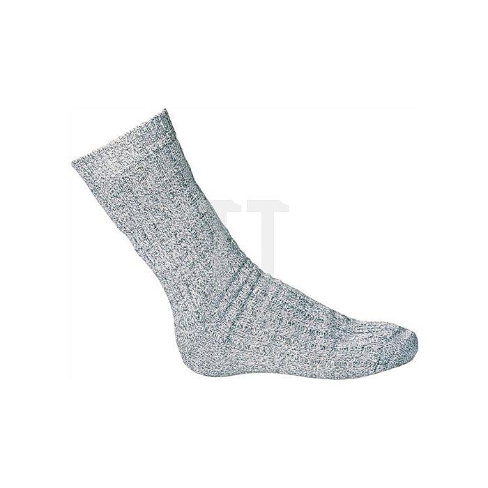 Arbeitssocke Norweger, grau meliert, Wolle Polyarcyl Polyamid Gr.43 - 46