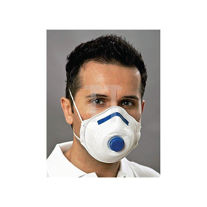 Atemschutzmaske Mandil DIN EN149:2001 FFP2 NR m. Ventil 2St./SB verpackt