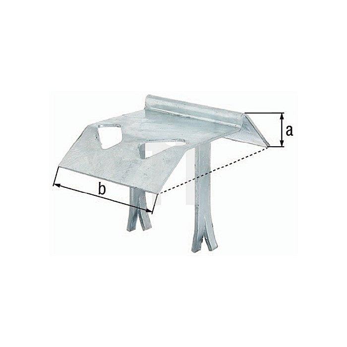 Auflaufstütze 130x130x140mm Stahl roh galv. bl. verz. GAH